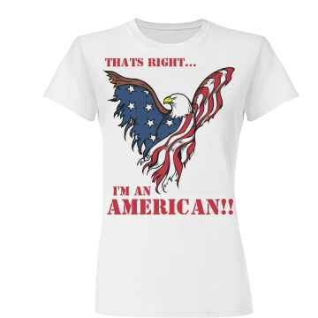 I'm an American Junior Fit Basic Tultex Fine Jersey Tee