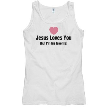 I'm His Favorite Misses Relaxed Fit Basic Gildan Softst