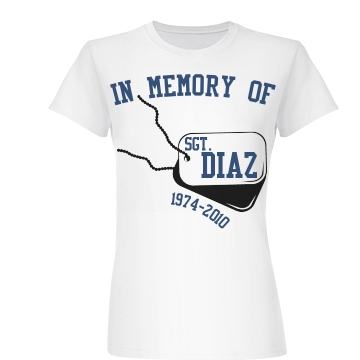 In Memory Dog Tags Junior Fit Basic Bella Favorite Tee