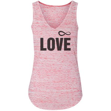 Infinity Love Bella Flowy Lightweight V-Neck Tank Top