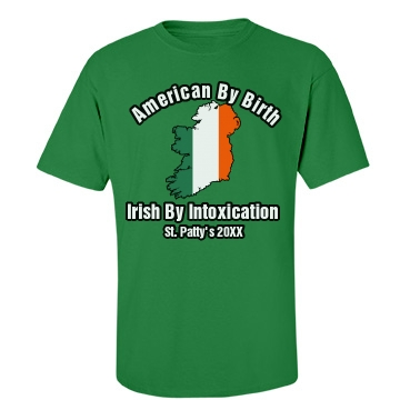 Irish By Intoxication Unisex Gildan Heavy Cotton Crew Neck Tee