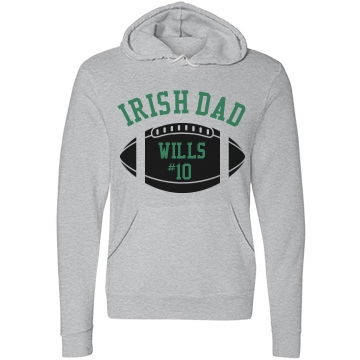 Irish Football Dad Unisex Canvas Fleece Pullover Hoodie