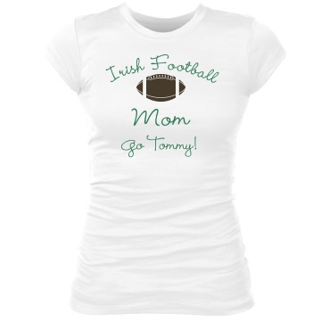 Irish Football Mom Junior Fit Bella Sheer Longer Length Rib Tee