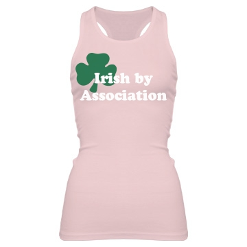 irish girl Junior Fit Bella Sheer Longer Length Rib Racerback Tank Top