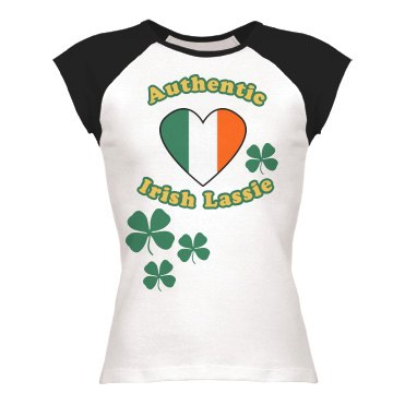 Irish Lassie Junior Fit Bella 1x1 Rib Cap Sleeve Raglan Tee