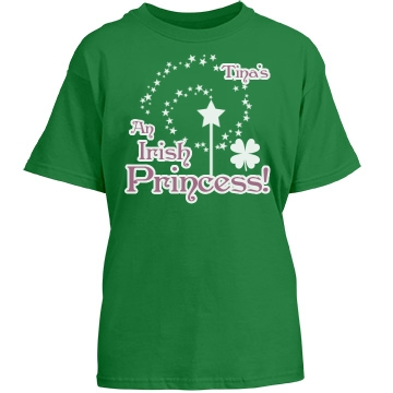 Irish Princess Tina Youth Gildan Heavy Cotton Crew Neck Tee