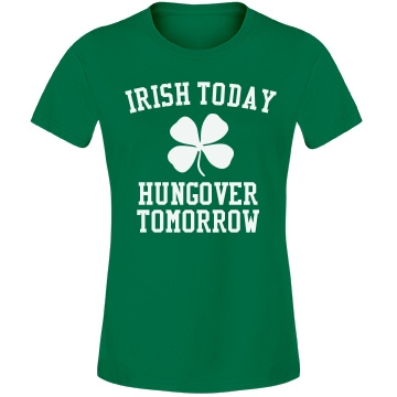 Irish Today Misses Relaxed Fit Anvil Lightweight Fashion Tee