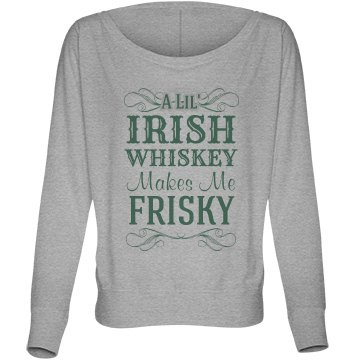 Irish Whiskey Gray Bella Flowy Lightweight Long Sleeve Dolman Tee