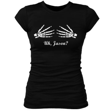 Is That Boo, Jason? Junior Fit Bella Sheer Longer Length Rib Tee