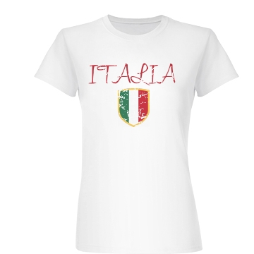Italia Distressed Junior Fit Basic Bella Favorite Tee