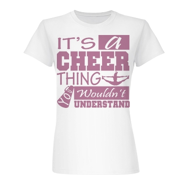 It's A Cheer Thing Junior Fit Basic Bella Favorite Tee