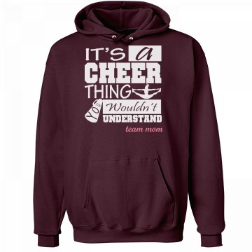 It's A Cheer Thing Mom Unisex Hanes Ultimate Cotton Heavyweight Hoodie