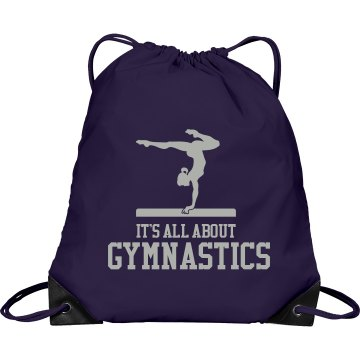 It's All About Gymnastics Port & Company Drawstring Cinch Bag