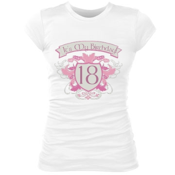 It's My Birthday 18 Junior Fit Bella Sheer Longer Length Rib Tee