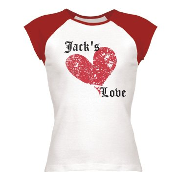Jack's Love Junior Fit Bella 1x1 Rib Cap Sleeve Raglan Tee
