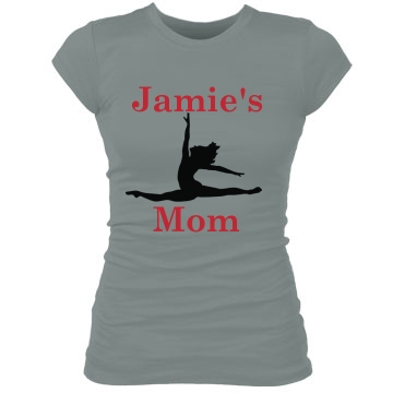 Jamie's Mom Dance Junior Fit Bella Sheer Longer Length Rib Tee
