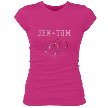 Jen + Tom Junior Fit Bella Sheer Longer Length Rib Tee