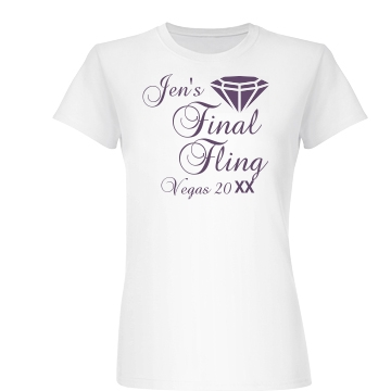 Jen's Vegas Bachelorette Junior Fit Basic Bella Favorite Tee