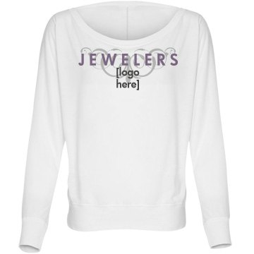 Jewelers Logo Bella Flowy Lightweight Long Sleeve Dolman Tee