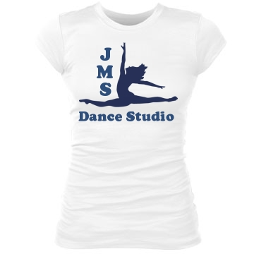 JMS Dance Studio Junior Fit Bella Sheer Longer Length Rib Tee