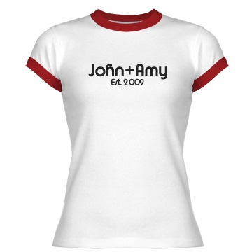 John and Amy Love Junior Fit Bella 1x1 Rib Ringer Tee