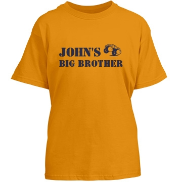 John's Big Brother Youth Gildan Heavy Cotton Crew Neck Tee