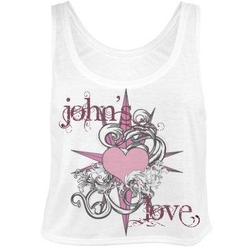 John's Love Tank Bella Flowy Boxy Lightweight Crop Top Tank Top