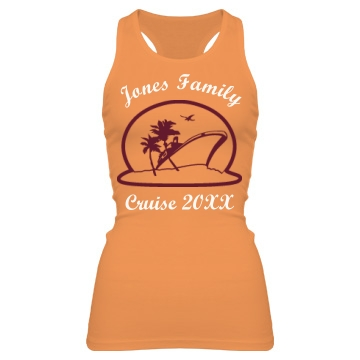 Jones Family Cruise Junior Fit Bella Sheer Longer Length Rib Racerback Tank Top