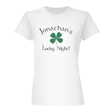 Jon's Lucky Night Junior Fit Basic Bella Favorite Tee