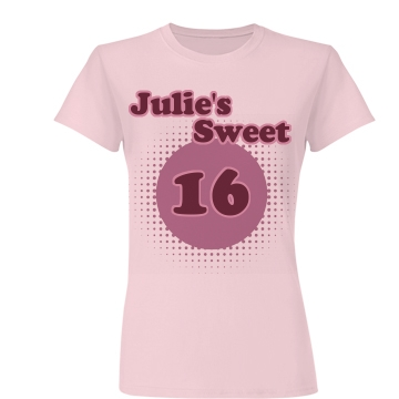 Julie's Sweet 16 Junior Fit Basic Bella Favorite Tee