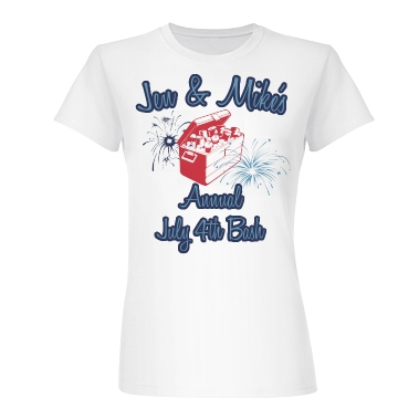 July 4th Bash Tee Junior Fit Basic Bella Favorite Tee