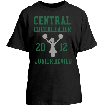Junior Devils Cheer Youth Gildan Heavy Cotton Crew Neck Tee
