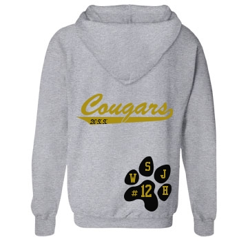 Junior High Wildcats Unisex Gildan Heavy Blend Full Zip Hoodie
