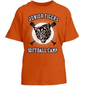 Junior Tigers Softball Youth Gildan Heavy Cotton Crew Neck Tee
