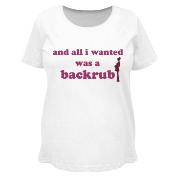 Just A Backrub Maternity LA T Cotton Tee