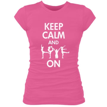 Keep Calm & Love On Junior Fit Bella Sheer Longer Length Rib Tee