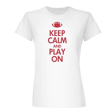 Keep Calm & Play On Junior Fit Basic Bella Favorite Tee