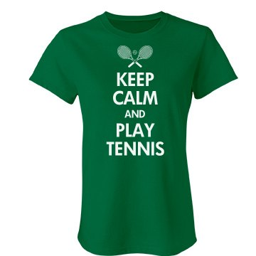Keep Calm & Play Tennis Junior Fit Bella Favorite Tee