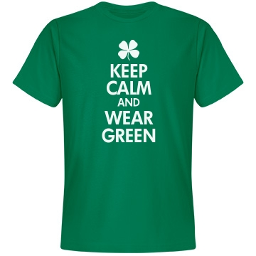 Keep Calm & Wear Green Unisex Anvil Lightweight Fashion Tee