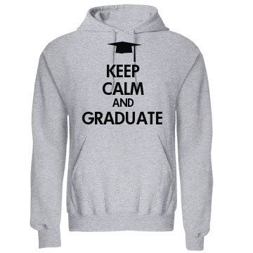 Keep Calm and Graduate Unisex Gildan Heavy Blend Hoodie