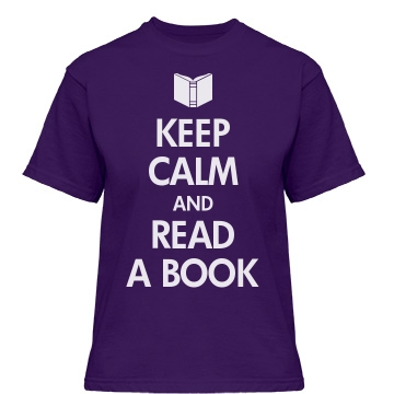Keep Calm and Read a Book Misses Relaxed Fit Gildan Heavy Cotton Tee