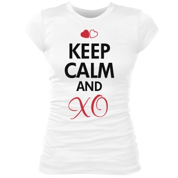 Keep Calm and XO Junior Fit Bella Sheer Longer Length Rib Tee
