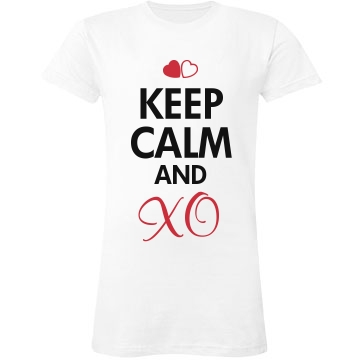Keep Calm and XO Junior Fit LA T Fine Jersey Tee