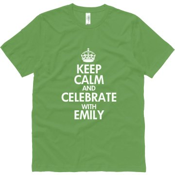 Keep Calm Canvas Green Unisex Canvas Jersey Tee