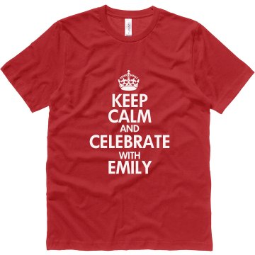 Keep Calm Canvas Red Unisex Canvas Jersey Tee