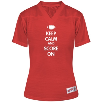 Keep Calm Football w/ Bk Junior Fit Soffe Mesh Football Jersey