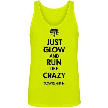 Keep Calm Glow Run Design