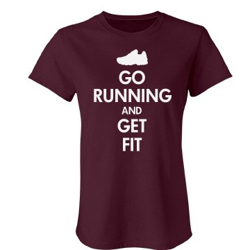 Keep Calm Go Running Junior Fit Bella Favorite Tee
