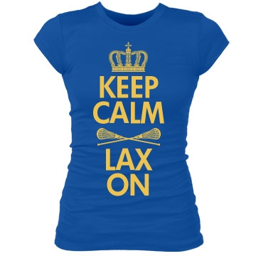 Keep Calm Lax On Junior Fit Bella Sheer Longer Length Rib Tee