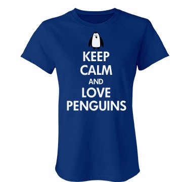 Keep Calm Love Penguins Junior Fit Bella Favorite Tee